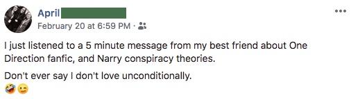 April Facebook